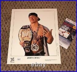 John Cena Signed 8x10 2005 Original Promo Photo Autograph Jsa Wwf Wwe Wrestling