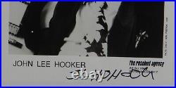 John Lee Hooker Autograph Signed 8 x 10 promo photo JSA LOA