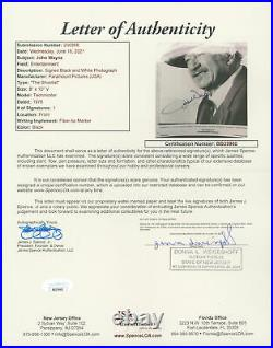 John Wayne The Shootist Authentic Signed 8x10 B&W Promo Photo JSA #BB39960