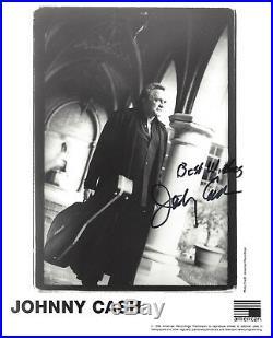 Johnny Cash RARE Signed 8x10 Black n White Promo Photo