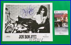 Jon Bon Jovi Signed Rare Orginal Vintage 8x10 Record Company Promo Photo Jsa Coa