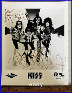KISS Gene Paul Ace And Peter AUTOGRAPHED PROMO PHOTO Def Jam Mercury Signed