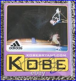 KOBE BRYANT Autographed Signed Adidas Promo Card Still In Plastic Photos JSA COA