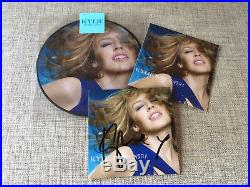 KYLIE MINOGUE ALL THE LOVERS 2xCD + 7'' PICTURE DISC SIGNED PROMO SET GOLDEN