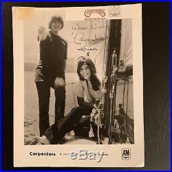 Karen & Richard Carpenter Signed Promo Photo