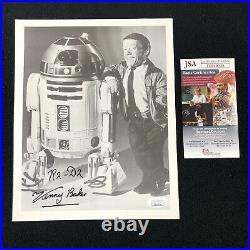 Kenny Baker Signed Star Wars R2-D2 Black and White Promo 8x10 Photo JSA COA