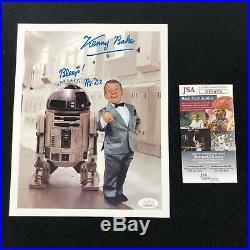 Kenny Baker Signed Star Wars R2-D2 Color Promo 8x10 Photo JSA COA
