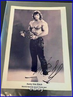 Kerry Von Erich Autographed Promo Photo WWF Texas Tornado