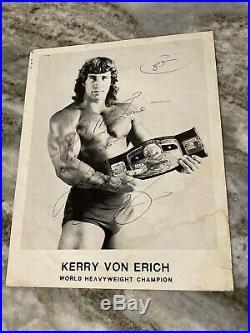 Kerry Von Erich Hand Signed 1985 WCCW Sportatorium 8X10 Wrestling Promo Photo