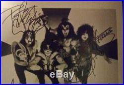 Kiss Fully Signed Promo Photo X4 Original Members