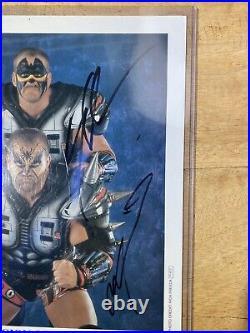 Legion Of Doom Hawk Animal Paul Signed Official WWF Promo photo WWE BECKETT COA