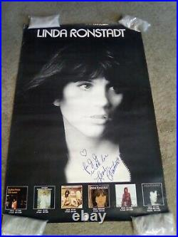 Linda Ronstadt autographed signed Promo poster 24 x 36
