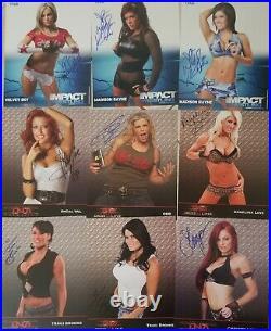 Lot Of 9 TNA Knockouts Signed 8x10 Promo Photos WWE Divas Women Auto Original