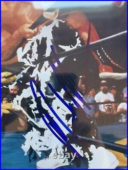 MACHO MAN RANDY SAVAGE Signed ORIGINAL PHOTOFILE PROMO withBECKETT ENCAPSULATION