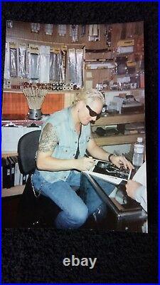 MATT SORUM Guns N' Roses Autographed Promo Photos Zildjian Magazine 4 Autographs
