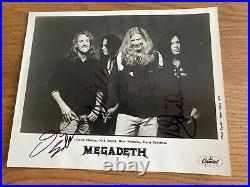 MEGADETH Promo PHOTO Signed by All 4 Members 1997 Metal Autographed Mustaine