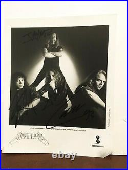 METALLICA BAND Personally Autographed/Signed B&W Promo Photo (8X10) FREE ship
