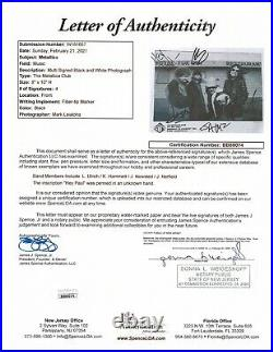 METALLICA REAL hand SIGNED Early Promo Photo JSA Full LOA Autographed Hetfield +