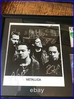 METALLICA Signed Jason, Kirk & James 8 x 10 Promo Photo Load 1996 Tickets Picks