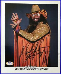 Macho Man Randy Savage 1992 Titan Sports Promo Signed Autograph PSA DNA AG99912
