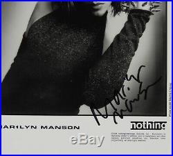 Marilyn Manson Signed Autograph JSA COA Photo 8 x 10 Promo Photo