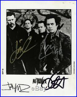 Metallica Fully Signed Promo Photo 1996 Authenticated by Roger Epperson