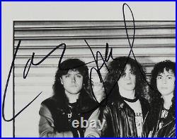 Metallica Fully Signed Promo Photo Autograph JSA 8 x 10 Kirk Hammett Lars
