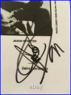 Metallica Signed 8X10 B&W Promo Photo James, Kirk, Lars and Jason