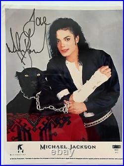 Michael Jackson Autographed Promo Picture 8 X 10 Color