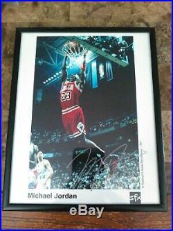 Michael Jordan Autograph 8x10 1997 Sfx Promo Photo Framed No C. O. A. Last Dance