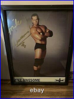 Mike Awesome signed WCW 8x10 Promo photo WWE WWF ECW Autographed