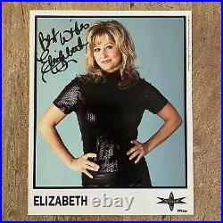 Miss Elizabeth WCW 8x10 Authentic Autograph Color Promo Photo with COA