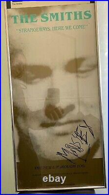 Morrissey Smiths SIGNED Strangeways here we come promo poster and press photo