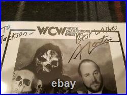 Mortis Chris Kanyon signed wcw promo photo wwf wwe wrestling James Vandenberg
