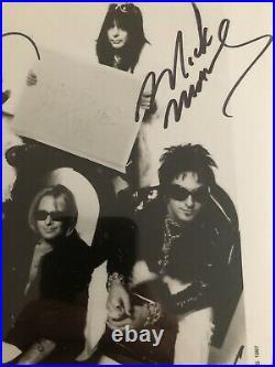 Motley Crue Autographed Promo Photo JSA LOA