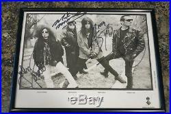 Motley Crue signed record company promo photo with John Corabi Nikki Six Mars