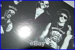 Motorhead -Autographed / Signed Record Company promo 10x8 Photo (Lemmy / Wurzel)