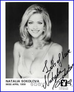 NATALIA SOKOLOVA SIGNED 8x10 PLAYBOY PLAYMATE PROMO PHOTO RARE BECKETT BAS