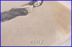Natalie Wood Promo Publicity Photo Autograph Signed 8x10 Bert Six Rare