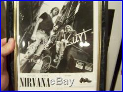 Nirvana BY ALL kurt cobain autographed signed geffen promo picture B&W 8 x 10