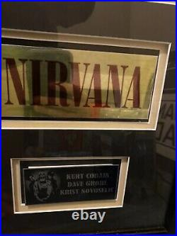 Nirvana Signed promo photo professionally framed with 1st press In Utero vinyl