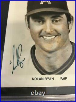 Nolan Ryan California Angels Promo Photo Psa/dna Certified Auto Autograph