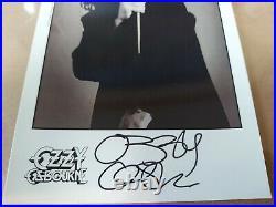 OZZY OSBOURNE SIGNED 5X8 PROMO PHOTO JSA Authenticated Black Sabbath