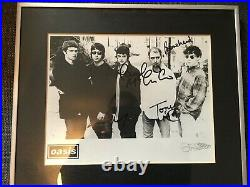 Oasis SIGNED Creation Records Promo photo -100% GENUINE 100% OASIS G&F