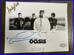 Oasis Signed Press Promo Photo By 4 Musicians 2005 Noel & Liam Gallagher