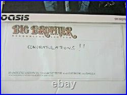 Oasis Signed / autographed Promo Group Photo 8'' x 91/2'' Big Brother Prize