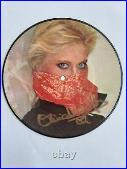 Olivia Newton-John Signed promo only 7 picture disc Deeper Than The Night