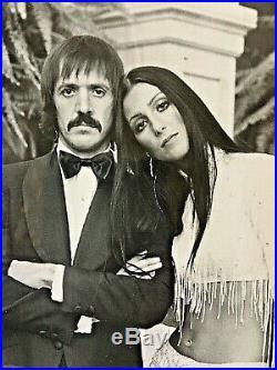 Original- Sonny & Cher Album Promo Photo Autographed By Sonny As Sonny + Cher