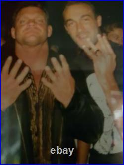 Original hand signed WCWithWWE Chris Benoit Promo Card from Germany Tour