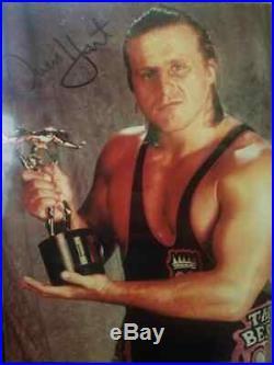 Owen Hart Autographed Promo Picture Photo 8x10 Signed WWE WWF Bret Autograph